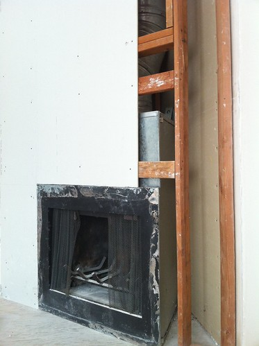 Fireplace-drywalling