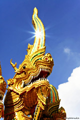 Leader /  () (AmpamukA) Tags: travel mountain history thailand temple golden pagoda pray mai thai mae leader kham wat chiang tambon doi hia  phrathat