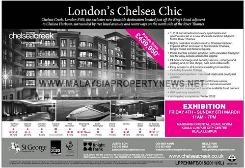 London Chelsea Creek, luxury apartments and penthouses for sale