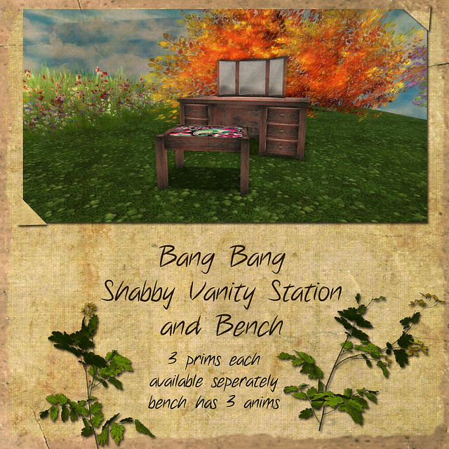 Bang Bang - Shabby Vanity Station and Bench