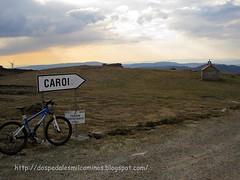 bajada desde la ermita Santa Mariña en el monte Seixo hacia CAroi