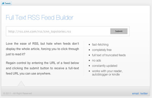 Full Text RSS Feed __ Get the whole feed and nothing but the feed-1