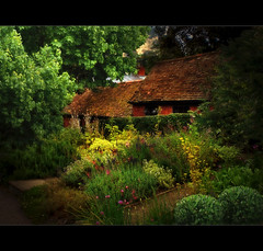 Hathaway Cottage II (On Explore 8/03/11 ~ #183) (Chariots_of_Artists) Tags: uk flowers trees england green nature cottage literature explore stratforduponavon annehathaway williamshakespeare explored colorphotoaward magicunicornverybest mygearandme mygearandmepremium mygearandmebronze