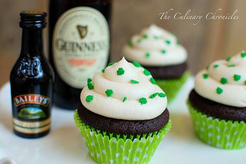 Cupcakes Take The Cake: Chocolate stout cupcakes with Irish ...