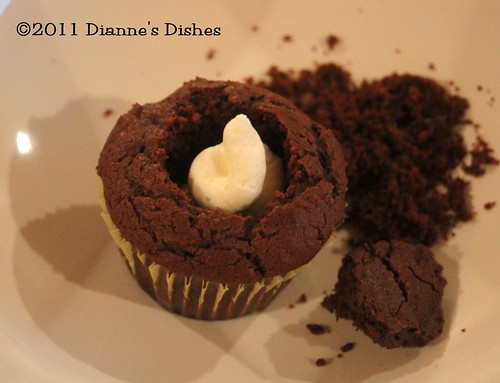 Glorious Chocolate Cream Filled Cupcakes: Filled