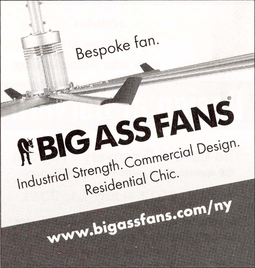 Big Ass Fans, Advertise in New Yorker, February 2011