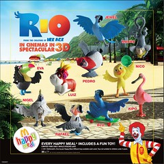 "McDonald""s Happy Meal April 2011 Rio (hytam2) Tags: rio toy eva blu australia mcdonalds pedro rafael nico nigel mauro luiz mcdonald jewel happymeal kipo april2011"