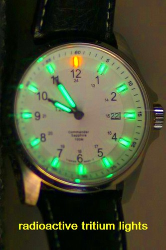 radioactive Tritium dial watch. 25 light years, no battery! .