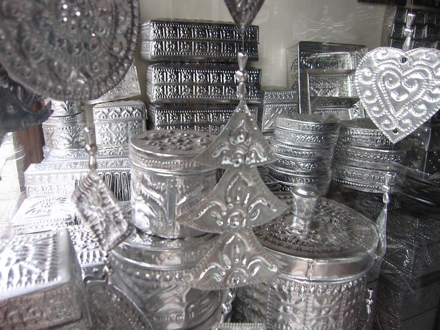 Hammered tin containers, Ubud