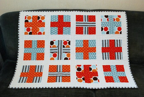 Nathaniel's Crossed Quilt front