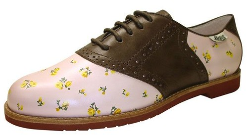 pink and brown bass oxfords