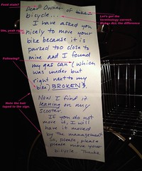 The psycho neighbor note
