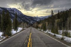 The Road To Lake City, Colorado (Michael_Underwood) Tags: road winter sunset snow storm mountains weather colorado lakecity hdr highdynamicrange sanjuanmountains gunnisonnationalforest uncompahgrepeak 1424 slumgullionpass hinsdalecounty lakecitycolorado highway149 coloradofourteener nikon1424 d7000 nikond7000 nikond7000hdr colorado149