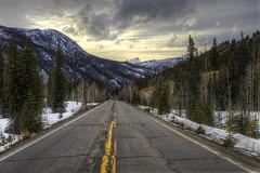 The Road To Lake City, Colorado (Michael_Underwood) Tags: road winter sunset snow storm mountains weather colorado lakecity hdr highdynamicrange sanjuanmountains gunnisonnationalforest uncompahgrepeak 1424 slumgullionpass hinsdalecounty lakecitycolorado highway149 coloradofourteener nikon1424 d7000 nikond7000 nikond7000hdr colorado149