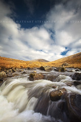 Blue sky thinking... (Stuart Stevenson) Tags: blue sun snow mountains cold water clouds river landscape freshair photography scotland rocks stream stones fluffy scottish wideangle bluesky glen boulders snowmelt scottishborders clydevalley tweeddale canon1740mm thelastofthesnow thanksforviewing canon5dmkii stuartstevenson ©stuartstevenson tallalinnfoots abreakfromthepermagrey