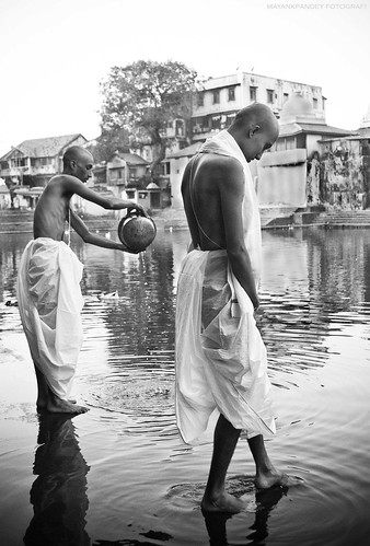 Together in Grief - a portrait of brothers at Banganga,Mumbai