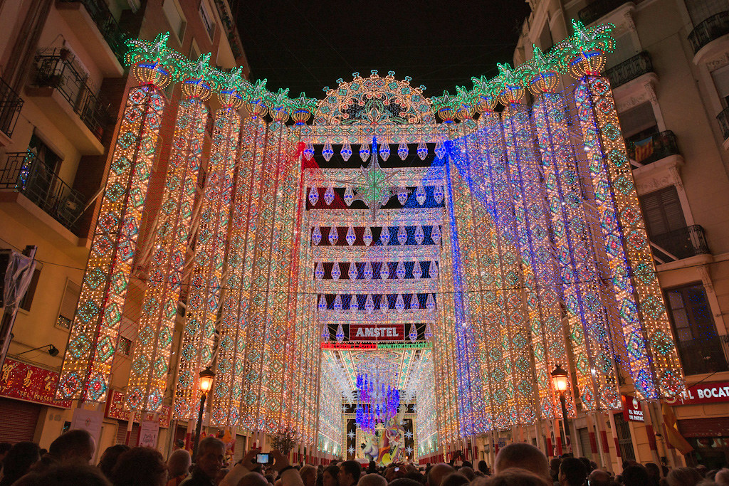 Ruzafa District Light Display