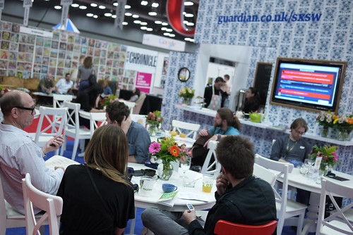 Guardian SXSW trade stand