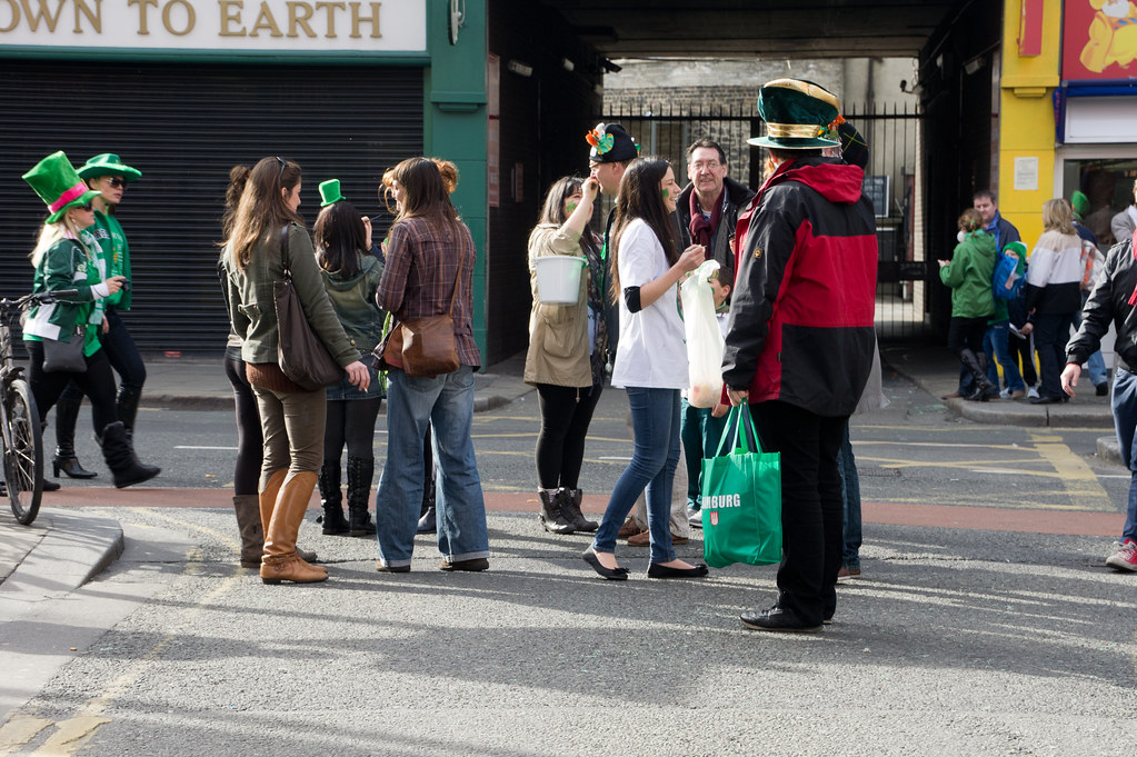 The Streets Of Dublin After The St. Patrick's Day Parade