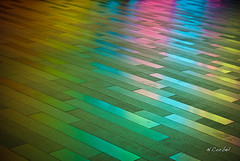 On a colorful journey (Kon'z) Tags: pink blue sol colors rose yellow jaune rainbow montreal ground bleu konz onthefloor palaisdescongrs congresshall ncorbel