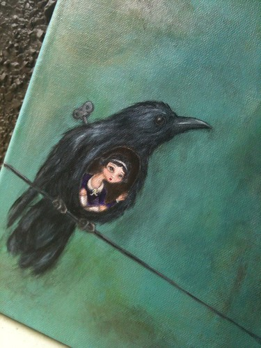 New painting inspired by the crows who continue to drive me mad!