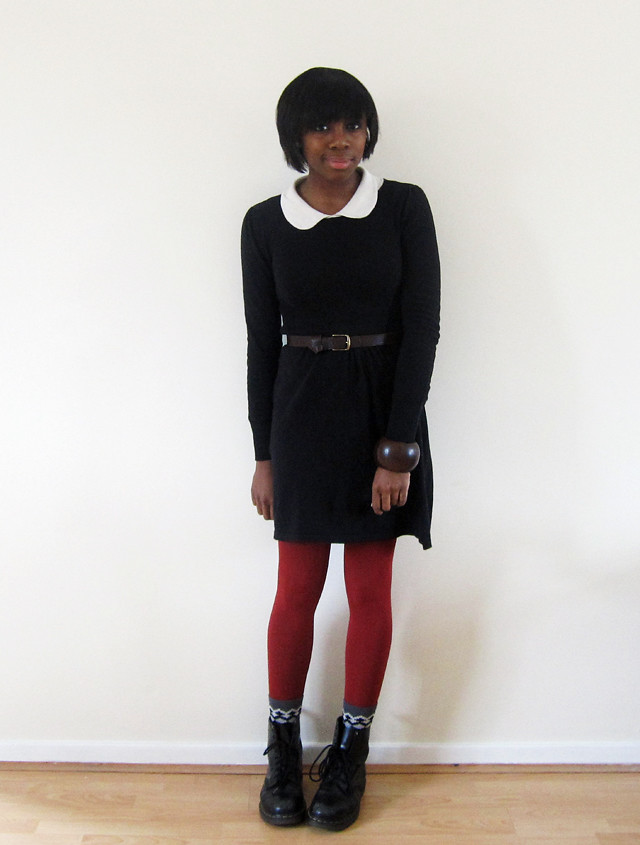 asos peter pan red tights doc martens