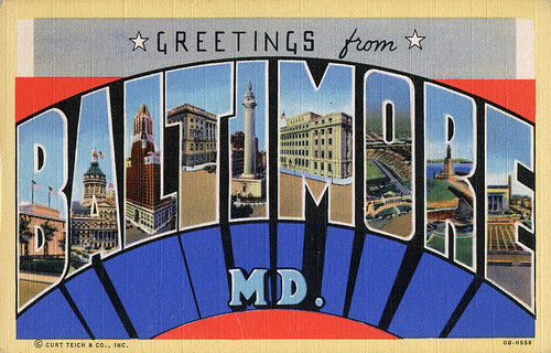 Greetings from Baltimore, Maryland - Large Letter Postcard
