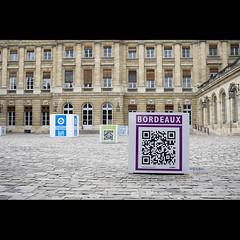 Bordeaux semaine digitale (Qr Code, cours de l'hotel de ville)