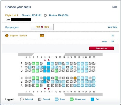 USAIRWAYS CHOOSE A SEAT