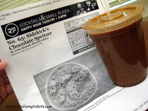sidekick's chocolate spritzer