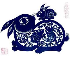 bunny papercut Yaici yin (ixchelbunny) Tags: bunny art fun rabbits ixchel ixchelbunny