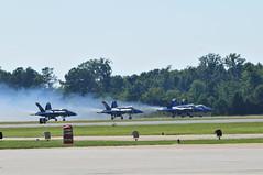 Rolling (robsv) Tags: geotagged virginia aviation military navy airshow hornet f18 virginiabeach blueangels usn nasoceana aerospace fa18