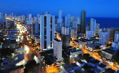 Boa Viagem Maquete (Edumozir) Tags: city night lights nightshot boaviagem tiltshift