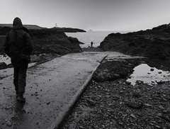 THE SHOOTISTS (kenny barker) Tags: sea bw lighthouse art monochrome photoshoot fife shore elie stealingshadows