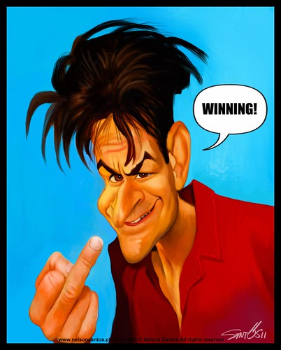 Charlie-Sheen-caricature [Copyright Nelson Santos] by caricaturas