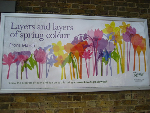 Spring colour poster at Kew Gardens