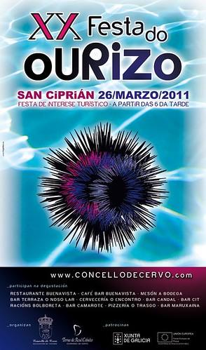 Cervo 2011 - Festa do ourizo - cartel