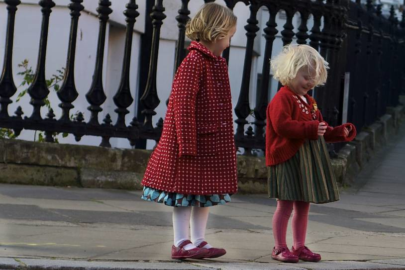Children in Notting Hill Gate, London