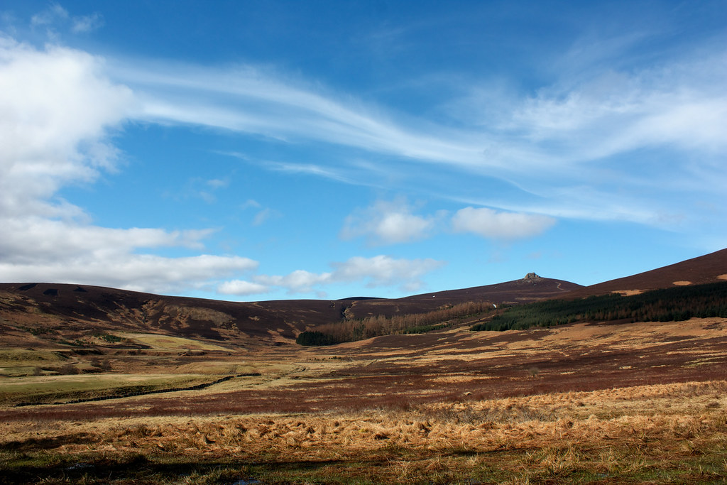 Clachnaben across Miller's Bog