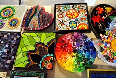 A Rainbow With Flair. (DavidGuthrie) Tags: house art mosaic exhibit northville doctorswithoutborders linschorr
