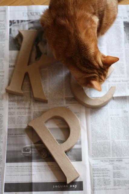 Paper Mache Letters 1