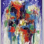 "<b>Arcturus Rising</b><br/> Richard Scherubel (LC '63) (Acrylic)<a href=""http://farm6.static.flickr.com/5291/5571201875_b4d1a5b4ee_o.jpg"" title=""High res"">∝</a>"
