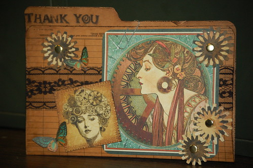 Graphic 45 thank you card