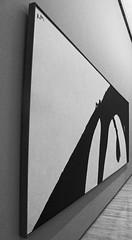 Motherwell Mono (Cheryl Atkins) Tags: blackandwhite abstract painting mono modernart angles baltimoremuseumofart robertmotherwell