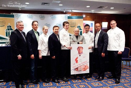 Paul Bocuse, Jerome Bocuse, Daniel Boulud, Thomas Keller, and a few of the CIA graduates