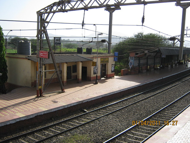 Platforms of Kanhe Railway Station for Dajikaka Gadgil Developers' Anant Srishti at Kanhe, near Talegaon, Pune