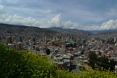 La Paz, Bolivia from Killi-Killi (meckleychina) Tags: city urban skyline view stadium bolivia viewpoint lapaz mirador killikilli