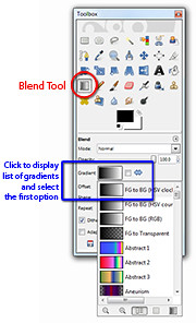 Activate the Blend Tool from the Toolbox.