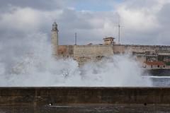 San Carlos de la Cabaa Fortress (Proggie) Tags: water havana cuba wave caribbean splash ef2470mmf28lusm touraroundtheworld