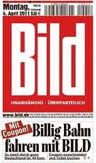 """BILD """"Deutsche Bahn"""" Bahn Coupon Gutschein"""